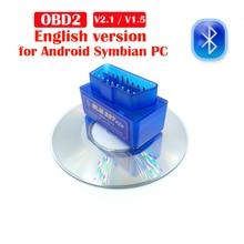 Obd2 bluetooth Code Reader ELM 327 V1.5 Bluetooth Car Diagnostic Tool V2.1 OBD2  ELM 327 Bluetooth For Android/Symbian For OBDII