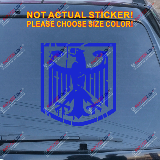 3S MOTORLINE 6 German Eagle Decal Sticker Coat of Arms of Germany Deutschland German Flag Color Vinyl Die Cut no Background