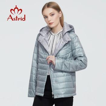 ¡Nuevo! Temporada otoño-invierno 2020. Abrigo a prueba de viento para mujer de Astrid, chaqueta fina a la moda con capucha, nuevo diseño 9299