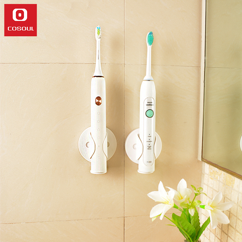 Electric Toothbrush Holder Wall Mount Elastic Hold Protect Toothbrush Handle Save Space Keep Dry Stop Mildew Toothbrush Holder image