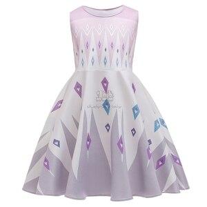 Нарядное платье принцессы «Холодное сердце 2»; платье Эльзы и Анны; одежда для маленьких девочек; Детские вечерние костюмы для костюмирован...
