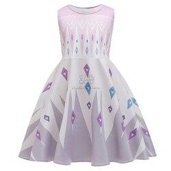 Fancy Princess Dress Frozen 2 Elsa Anna Dress Baby Girl Clothes Kids Halloween Party Cosplay Children Costume vestidos infantil