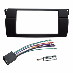 Image 3 - One or Double Din Radio fascias for BMW 3 Series E46 1998 2005 DVD Stereo Panel Dash Mount Refitting Trim Kit Frame CD Bezel