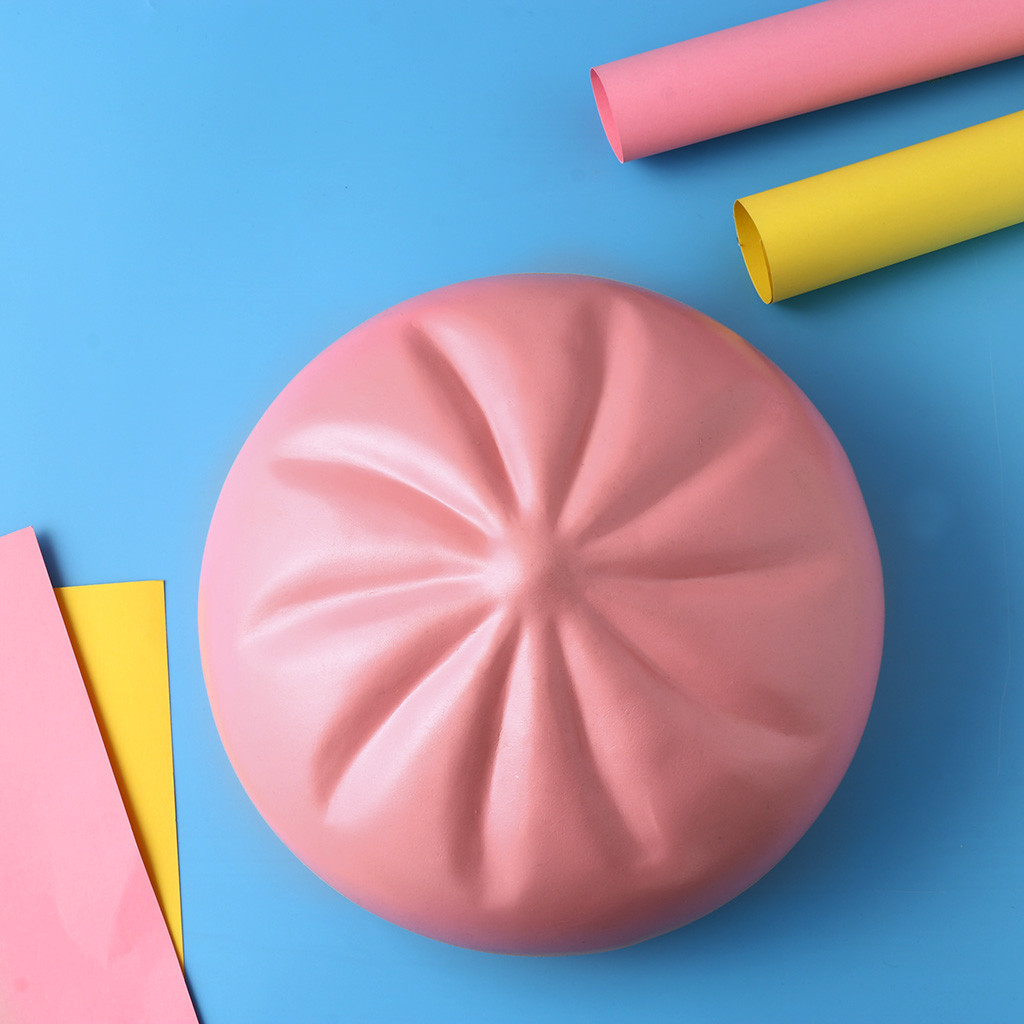 Squishy Kawaii Gigantes Bread Squeeze Toys Squishy Pink Bread Scented Charm Slow Rising Collection Stress Reliever ToysW725