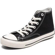Chaussures en toile pour hommes et femmes, baskets montantes décontractées à la mode, chaussures plates vulcanisées pour étudiants, printemps et été 2020