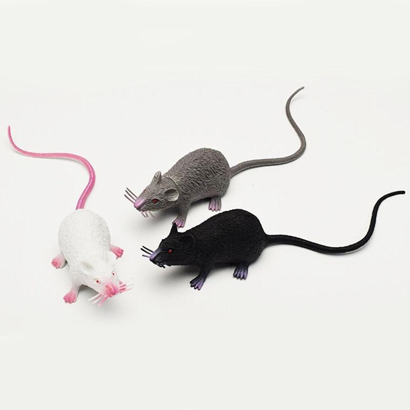 Lifelike Mouse Model Funny Toy Tricky Joke Fake Halloween Gift Party Halloween Horror Rat Kids Novelty  Gag Toy Home Decoration