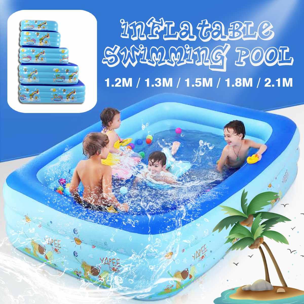 Piscine gonflable épaisse pour adultes et enfants   Baignoire d'extérieur, carrée, piscine intérieure, utilisation domestique, pataugeoire, jeu d'eau