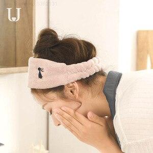 Image 3 - Youpin JORDAN & JUDY gorro de secado de pelo suave para mujer, tapa de secadora rápida, absorbente de agua, gorro protector para la diadema de la ducha del hogar