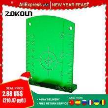 Placa magnética do alvo do laser das linhas transversais horizontais e verticais do feixe verde de zokoun