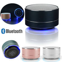 Portable Wireless Bluetooth Speaker Stereo Portable Led Speakers with Built Mic MP3 MINI Subwoof Smart Column Loudspeaker(China)