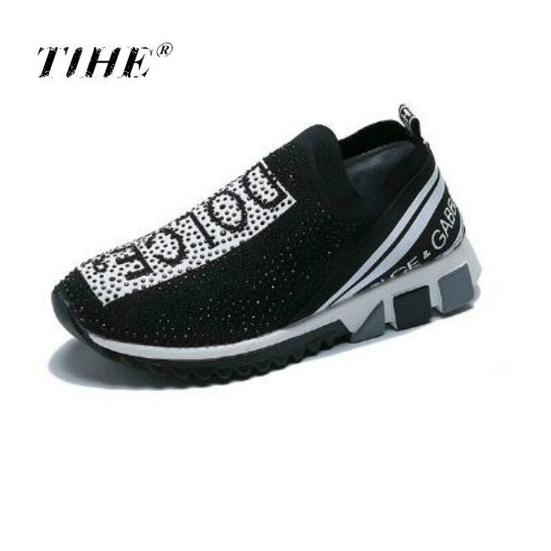Light Soft New Arrival Breathable Flying Socks Shoes Women Sports Elastic Socks Sneakers Woman Ladies Flat Running Walking Shoes