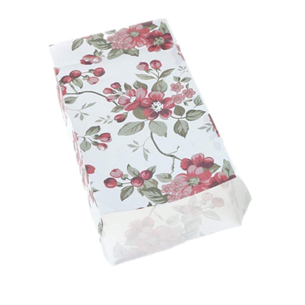 10 stücke/50 stücke Kraft Papier Kuchen Papier Taschen Box Lebensmittel Verpackung Schmuck Brot Süßigkeiten Party Taschen Für Boutique cookie