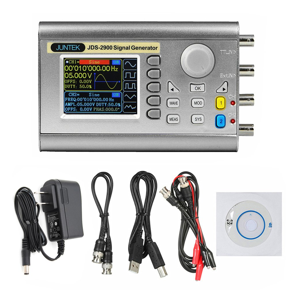 JDS2900 50M 50MHZ Signal Generator Digital Control Dual channel DDS Function Signal Generator Frequency Meter Arbitrary Wave|Signal Generators| |  - title=