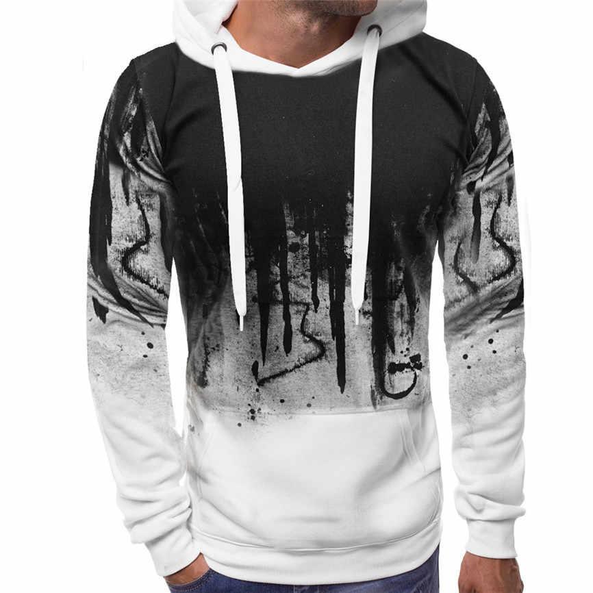 Hoodies Sweatshirts Off White Mannen Gradiënt Kleur Trui Lange Mouwen Hooded Sweatshirt Tops Blouse Sweater Heren Winter