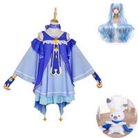 2019 Snow Miku Hatsune Cosplay High Quality Star Princess Dress wig Japanese Cosplay Costumes Kit Mid Set Dress Gowns
