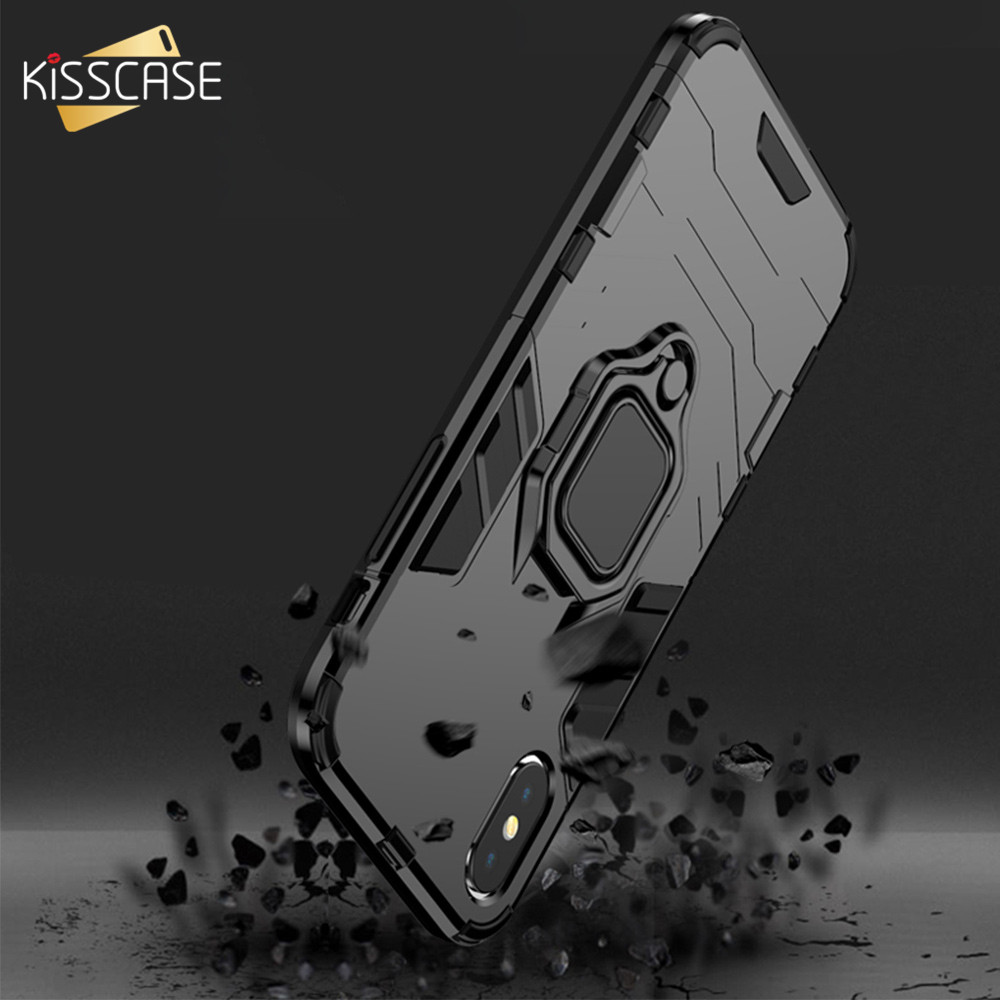 KISSCASE Original Ring Holder Case For <font><b>Samsung</b></font> Galaxy A50 <font><b>A30</b></font> Note 10 Plus Armor Case For <font><b>Samsung</b></font> S10 S9 S8 Plus <font><b>Capinhas</b></font> Bag image