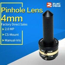 "2 Megapixel Manuale Iris Pinhole lens 4 millimetri, 1/3 ""CS Mount Lens ,CCTV lens per la Macchina Lente di Visione telecamere Industriale Lens 1080P"