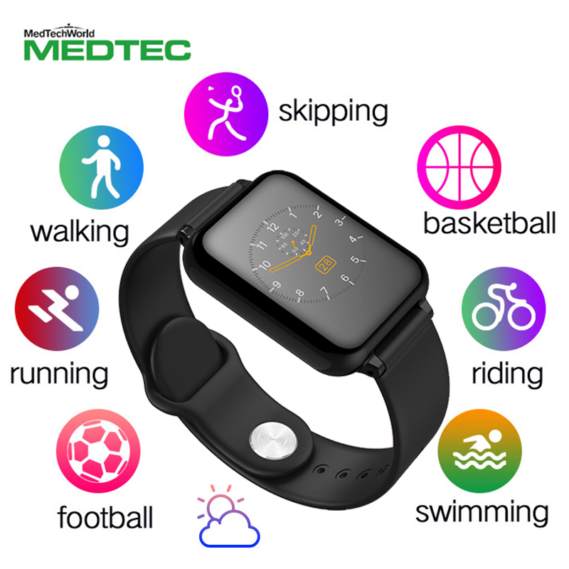 New Smart Wristband Heart Rate Blood Pressure Oximeter Step Motion Incoming  Call Alert Bluetooth