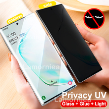 100D AntiSpy UV Full Glue Tempered Glass for Samsung Galaxy S10 Plus Screen Prot