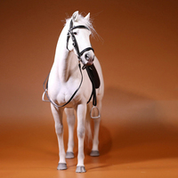 About 37CM 1/6 scale simulation PVC warm blood horse Mounts animal model doll mount Kids Toys home decoration collect Gift shows