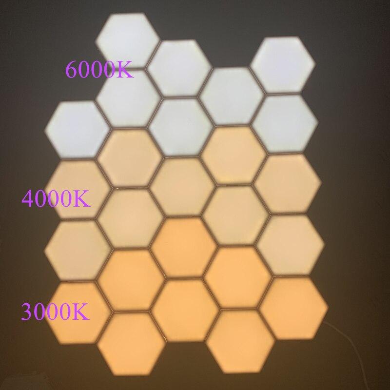 2019 lumière quantique Helios tactile sensible LED panneau lumière modulaire hexagonale LED lumières magnétiques peinture LED plafon LED techo - 6