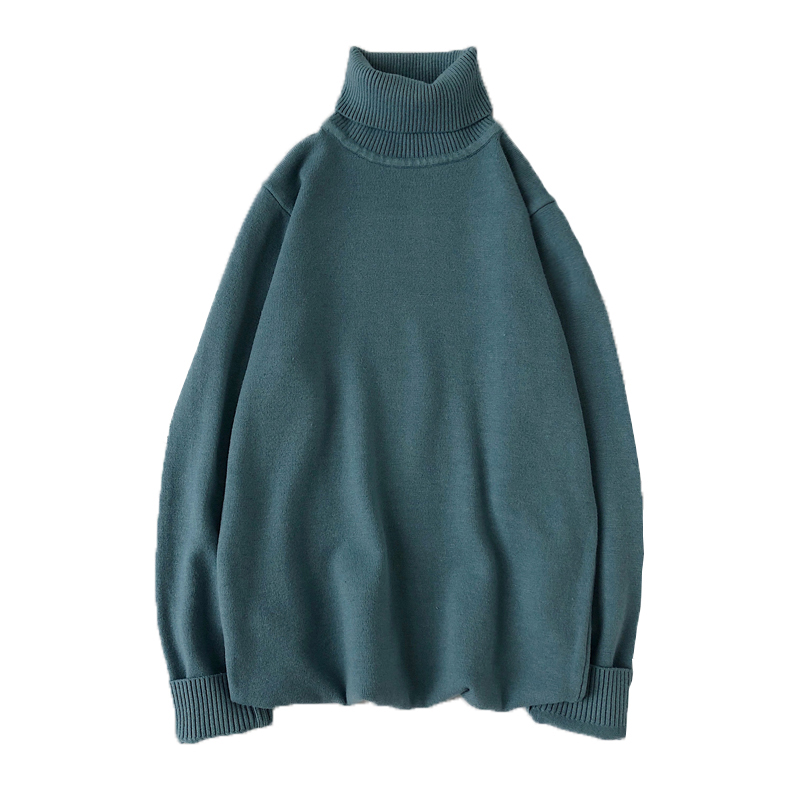 mens sweaters Men's Turtleneck Sweater Solid Color Sweater Thickened and Cashmere Sweater 5XL Men's Sweater