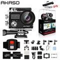 AKASO Brave 4 Экшн-камера Ultra HD 4K WiFi 2,0 дюймов 170D 20MP Подводная Водонепроницаемая камера на шлем Спортивная камера селфи палка подарок