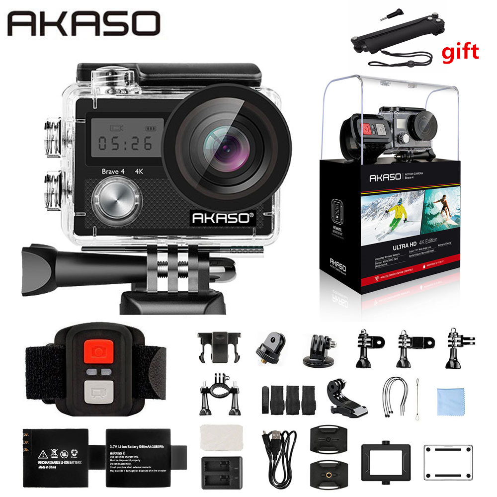 AKASO Brave 4 Action caméra Ultra HD 4K WiFi 2.0