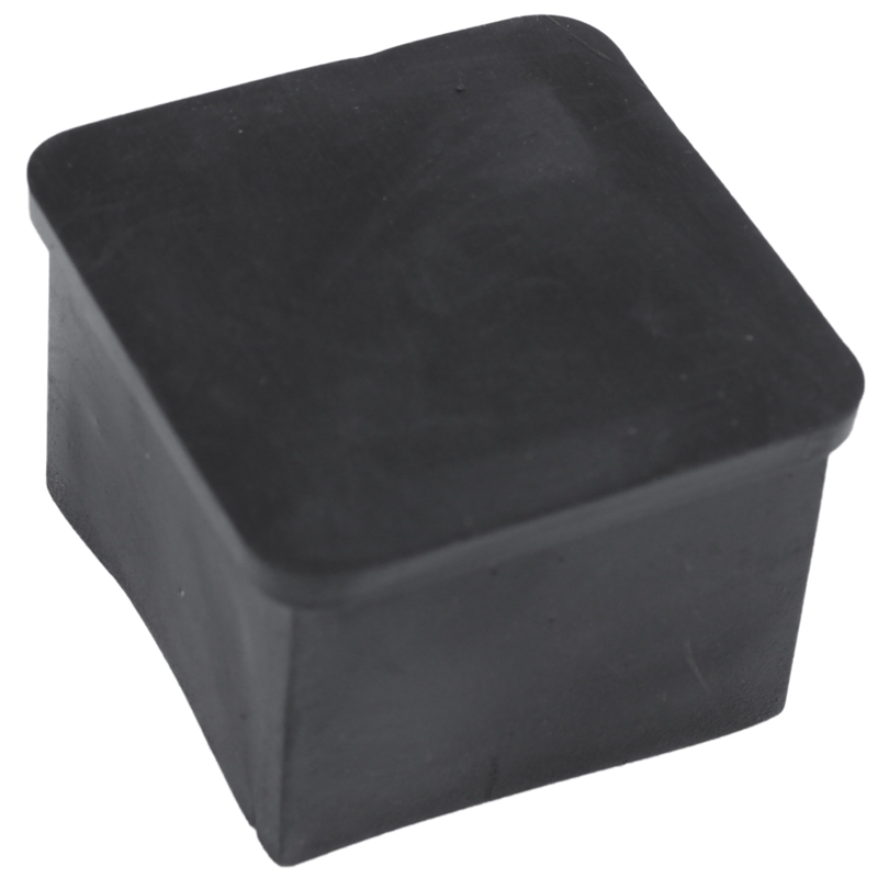 Furniture Chair Square Leg Protector Soft PVC Foot 30mmx30mm 24Pcs Black