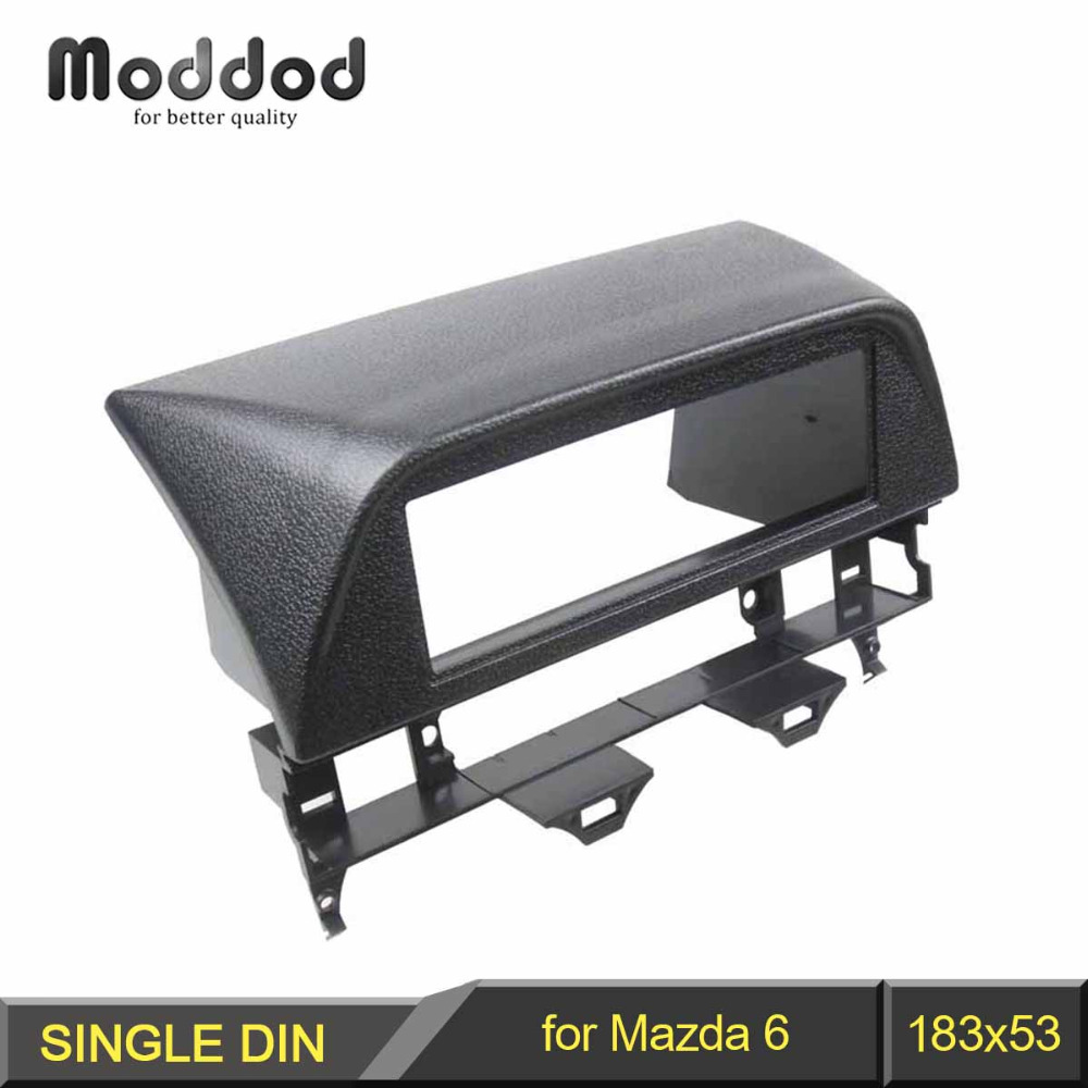 One Din CD DVD Stereo Panel for <font><b>Mazda</b></font> <font><b>6</b></font> Atenza 2002-2007 Fascia <font><b>Radio</b></font> Refitting In <font><b>Dash</b></font> Mount Install <font><b>Kit</b></font> Face Plate image
