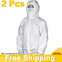 Fast Delivery Disposable Protective Suit Anti Epidemic Anti Virus Non woven Isolation Suit Protection Clothes Coveralls