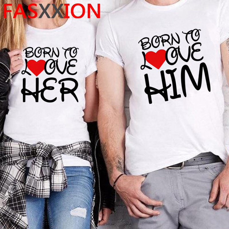 funny couple clothes for love women matching t <font><b>shirt</b></font> Family clothes husband <font><b>wife</b></font> tshirt Girlfriends clothing Parent-child female image