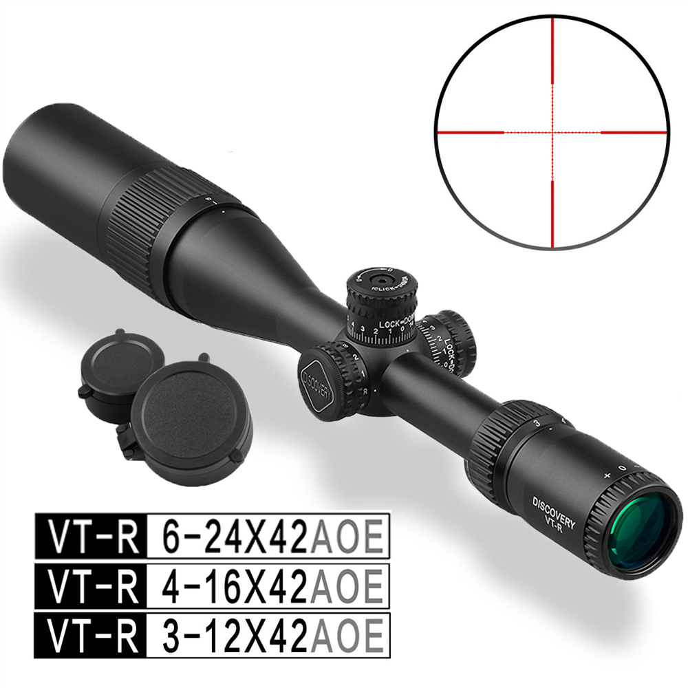 4-16 6-24 Discovery VT-R 3-12 X42 Illuminated Tactical Hunting Scope Used For Rifle PCP Airsoft