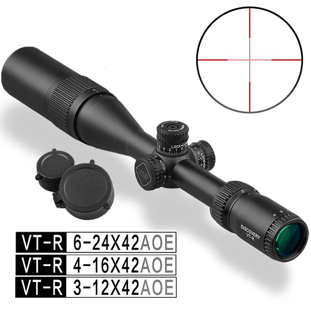 4-16 6-24 scoperta VT-R 3-12x42 Illuminato Ambito di Caccia Tattico Utilizzato per Fucile PCP Airsoft