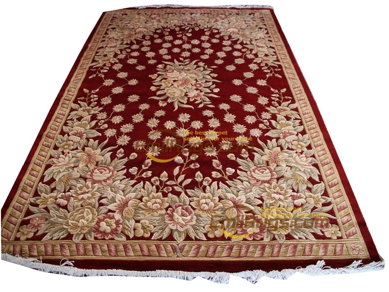 Carpet Floor French Savonnerie Hand Knotted Wool Rug Carpet Handmade Runner Carpet Room Floor Decoration Square Rug Colorful