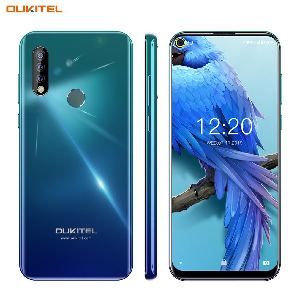 OUKITEL C17 6.35'' Mobile Phone Android 9.0 4G Smartphone Octa Core 3GB 16GB Cellphone 3900mAh Triple Camera MT6763 Face ID OTG