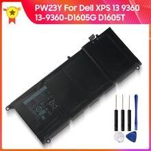 100% Оригинальная батарея pw23y 0rnp72 0tp1gt rnp72 tp1gt для