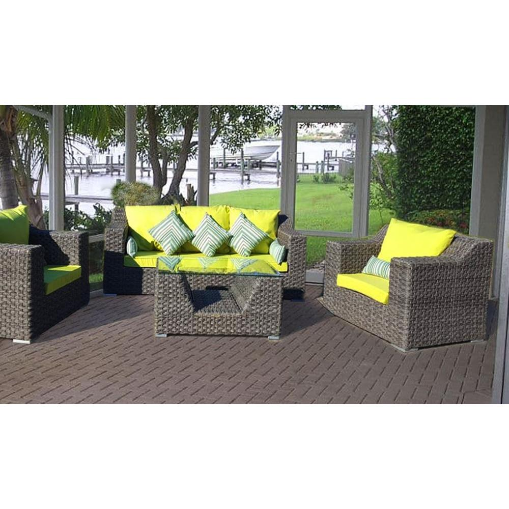 Set Wicker Furniture Faux Rattan Fiji
