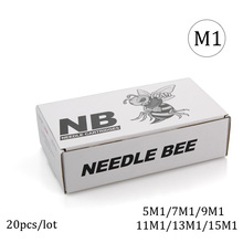 Ambition 20pcs M1 Disposable Sterile Tattoo Cartridge Needles For Rotary Pen Round Shader Supplies Accessories