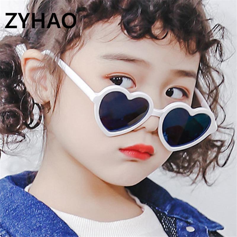 1-4 Years Children Heart Sunglasses Kids Fashion Cute Colorful Love UV400 Sun Glasses For Girls Boys Gift Gafas De Sol Mujer