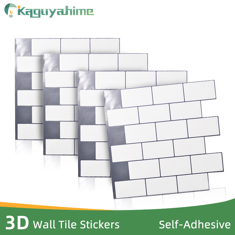 Kaguyahime Modern 3D Wall Stickers Self Adhesive Mosaic Tiles DIY Ceramic Tile Waterproof Wallpaper Home Sticker For Living Room