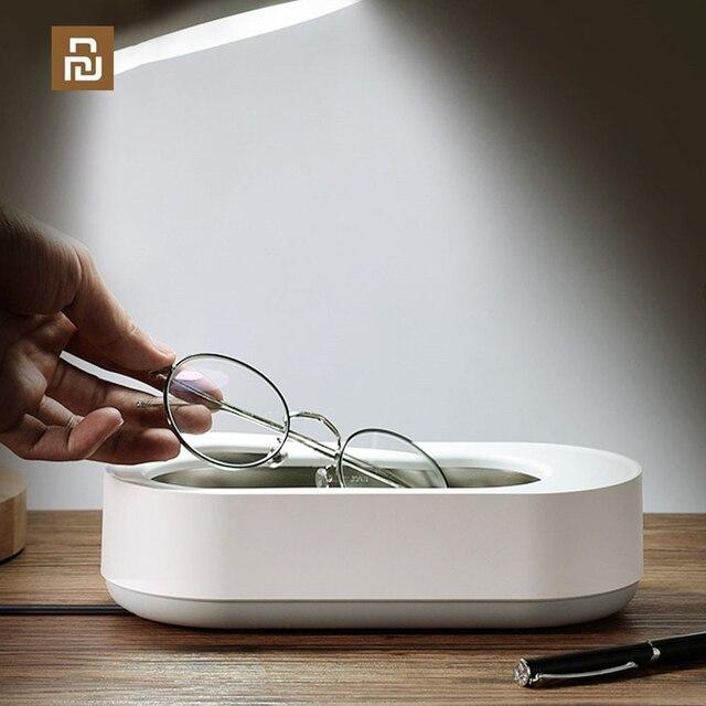 Xiaomi EraClean contrôle intelligent nettoyeur à ultrasons 45000Hz haute fréquence Vibration bijoux lunettes nettoyant Machine de nettoyage