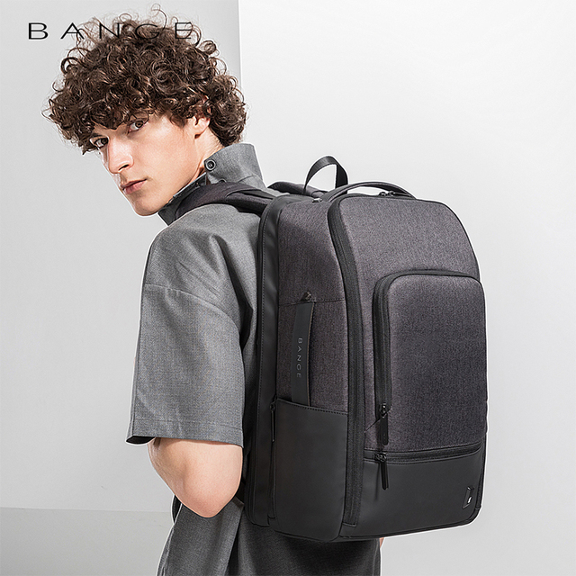 Bange Fashion Men 15.6inch Laptop Backpack Anti-theft Technology Business Backpack Waterproof USB RechargeTravel Backpack 3