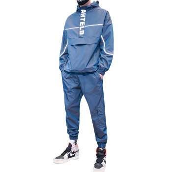 2020 Autumn New Fashion Reflective Tracksuit Men Hooded Sweat Suits 2 Piece Set Streetwear Jogger Plus Size M-5XL - discount item  50% OFF Men's Sets
