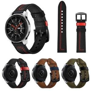 Кожаный ремешок для часов SIKAI, для samsung gear S3 Galaxy Watch, браслет для Amazfit GTR GTS, ремешок для часов Huwei Watch GT 2 2e