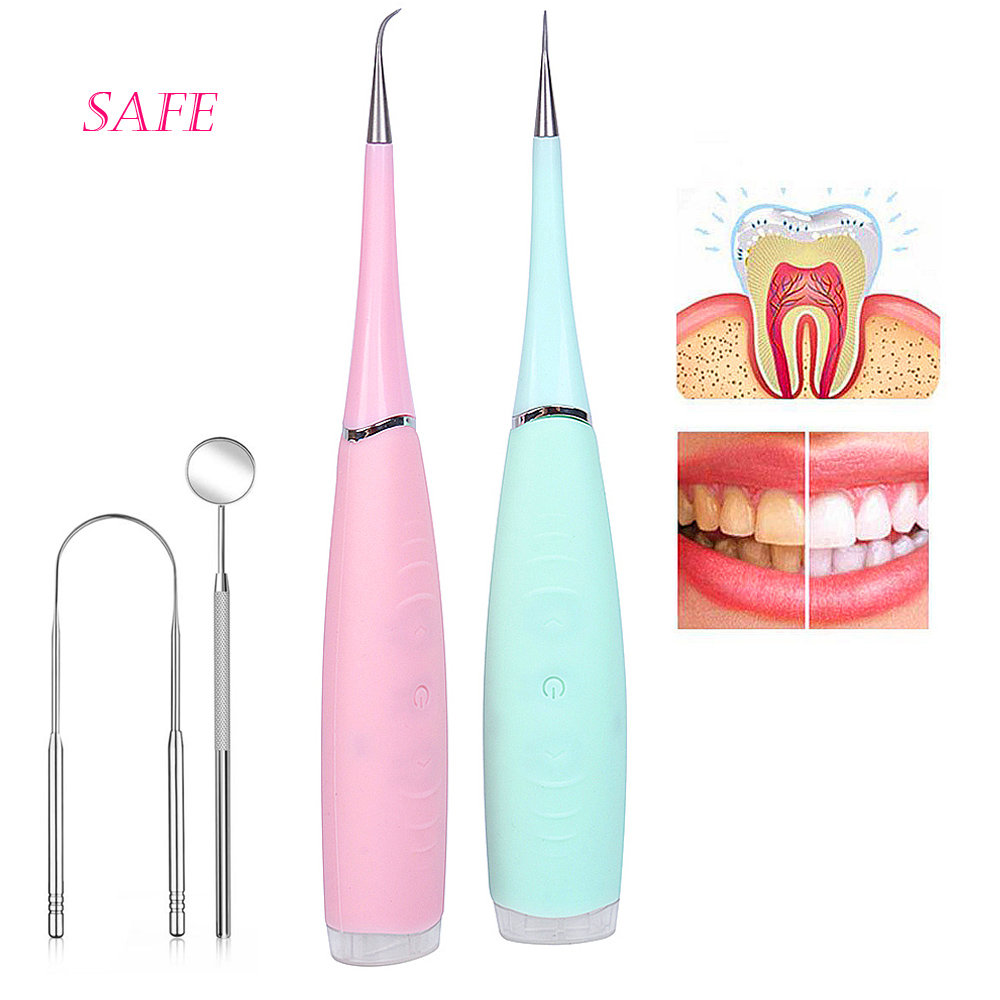 Vibrition Sonic Ultrasonic Dental Scaler Usb Recharge Tooth Calculus Remover Tooth Stains Tartar Cleaner Tool Whiten Teeth Gift