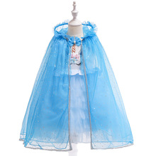 4-14 year old child girl flower girl dress elegant princess party beauty dress lace back hollow tulle long dress