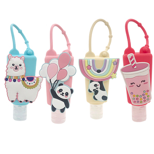 30ml Panda Animal Silicone Hand Sanitizer Pocketable Shower Holder With Empty Bottle Color Random 1pc