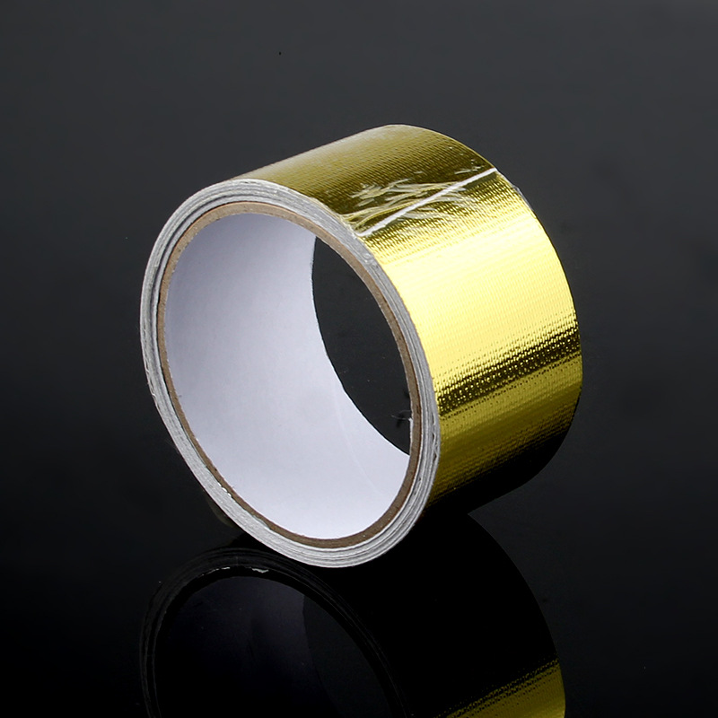 Manufacturers Direct Selling Gold Foil Adhesive Tape Self-Adhesive With Car Air Intake Pipe Furniture Decoration Self-adhesive T