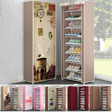 Multi Layers Shoe Rack Nonwoven Fabric Home Shoes Storage Organizer Easy to Install Shoe Cabinet Stand